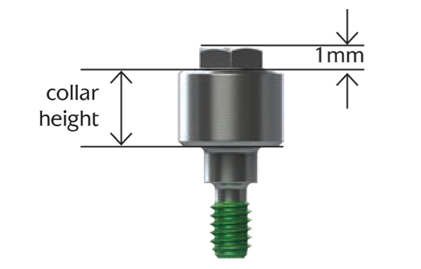 Straight Abutment for Screw - Non-hexed